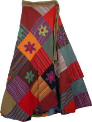 3294-deep-floral-wrap-around-fashion-skirt